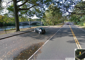 Google Maps street level view of bridge in Event Horizon